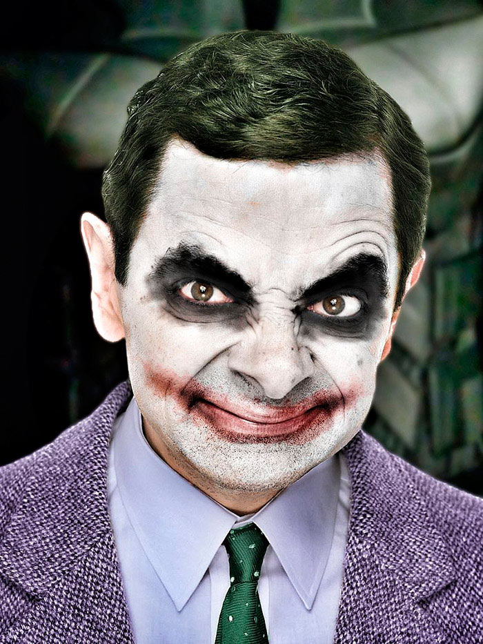 Первоклассные фотожабы на Мистера Бина Джокер Бин
