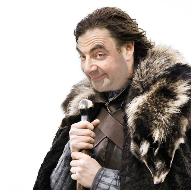 Это не Шон Бин, а мистер Бин. Зима близко