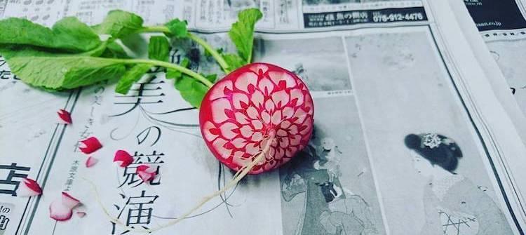 Художник Gaku превращает еду в произведения искусства редис