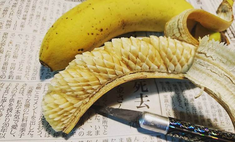Художник Gaku превращает еду в произведения искусства банан
