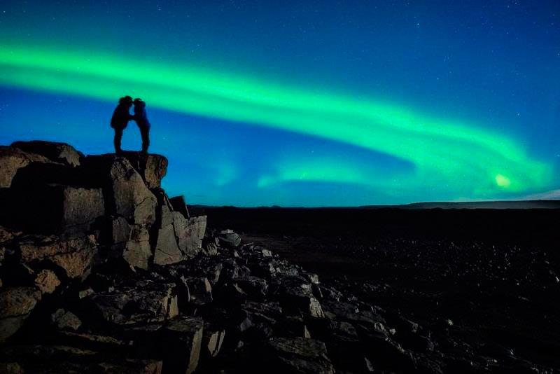 северное сияние полярный круг
