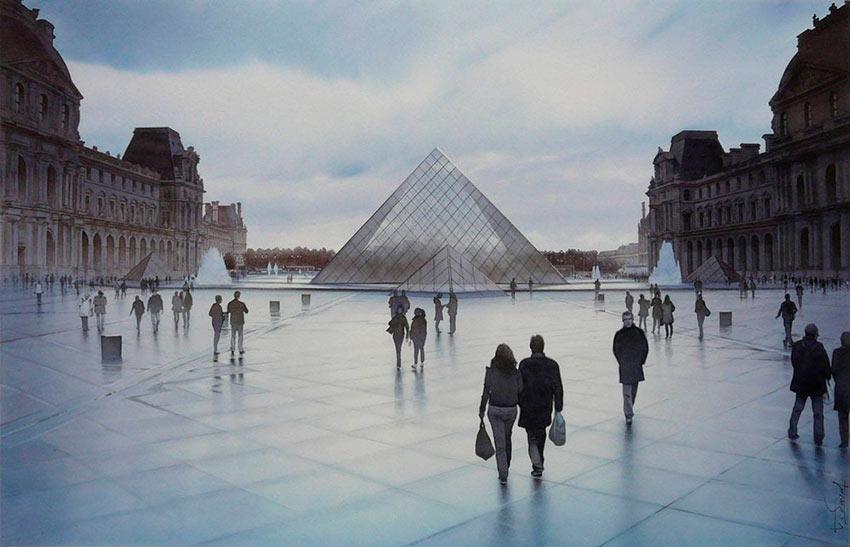 Очарование Парижа в акварельных картинах Тьерри Дюваля Thierry Duval