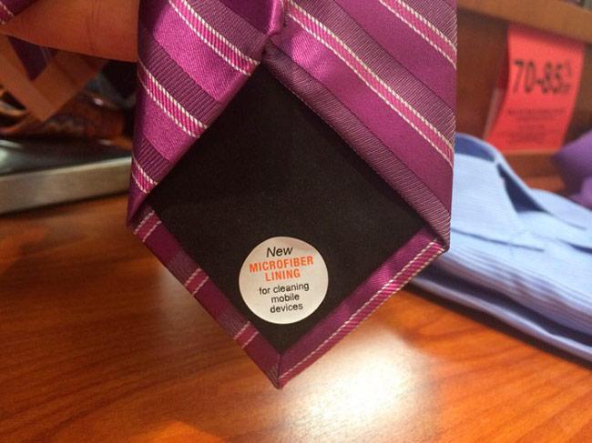 галстук с микрофиброй