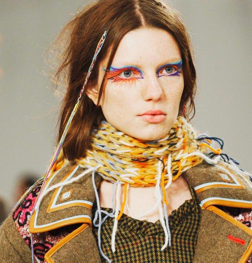 Неземная красота: 15 макияжей с Парижской недели моды Maison Margiela