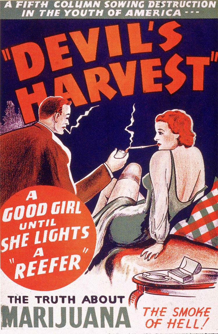 13 антиконопляных плакатов из эпохи косякового безумия пятая колонна урожай дьявола Devil's harvest