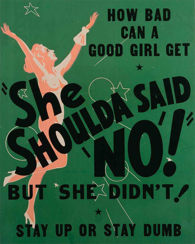 """13 антиконопляных плакатов из эпохи косякового безумия  она должна была сказать нет She Shoulda said """"no"""" Но она этого не сделала"""