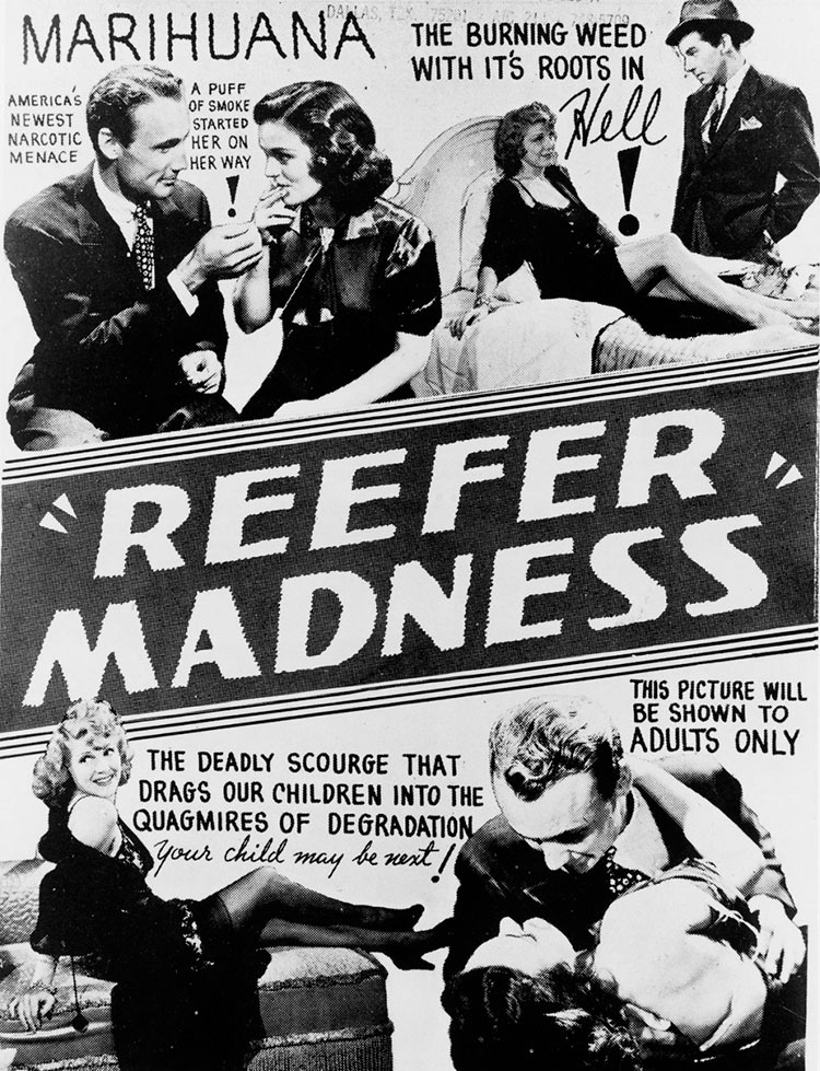 13 антиконопляных плакатов из эпохи «косякового безумия» марихуана косяковое безумие Reefer Madness смертельная напасть деградация
