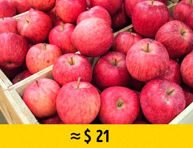 10 редких фруктов, которые стоят возмутительно дорого яблоки aplle sekai lchi