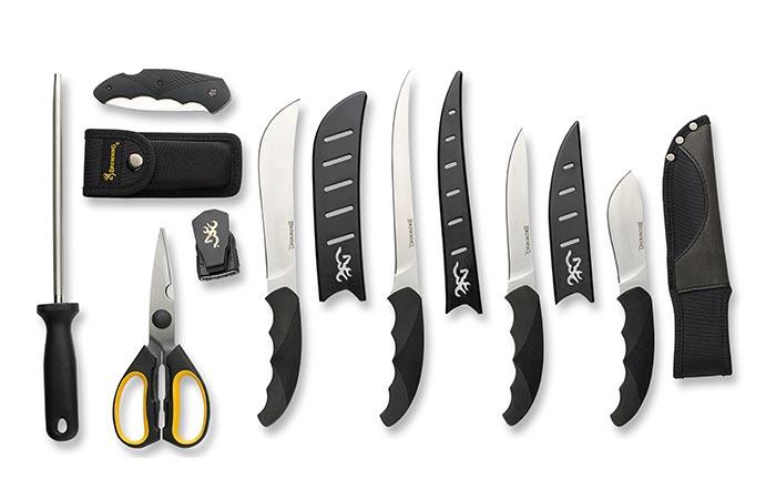 оригинальные подарки для любителей готовить набор ножей browning DIY butcher kit