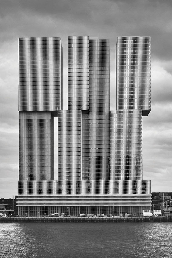 здания в стиле брутализма Небоскреб De Rotterdam, Роттердам, Нидерланды