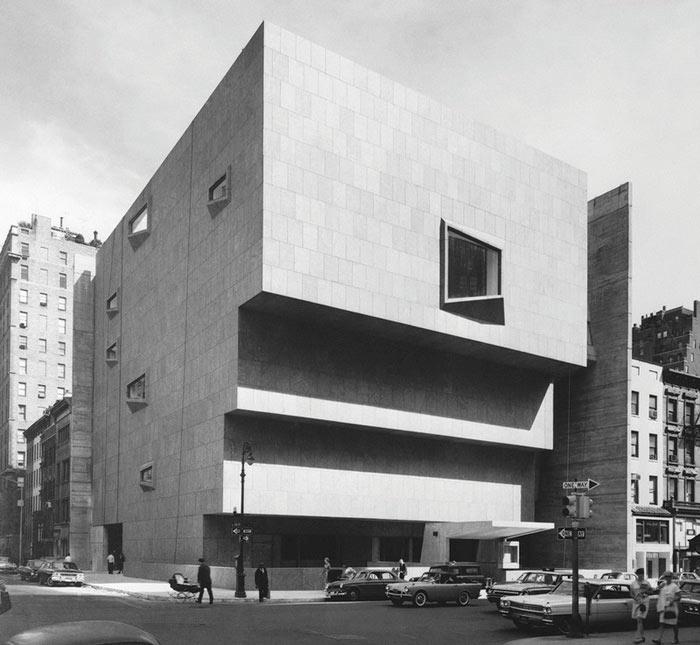 здания в стиле брутализма Питер Чедвик Музей американского искусства Уитни, Нью-Йорк, США