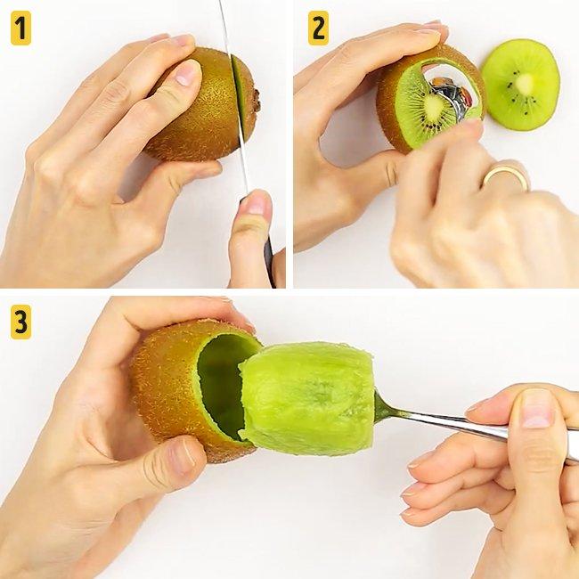 Быстрые и лёгкие способы почистить фрукты и ягоды киви