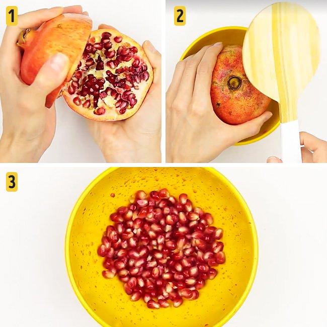 Быстрые и лёгкие способы почистить фрукты и ягоды гранат