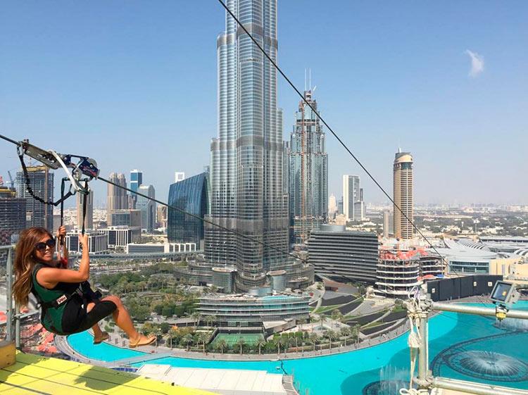 Сумасшедшие аттракционы, от которых сносит крышу Канатная дорога, ОАЭ