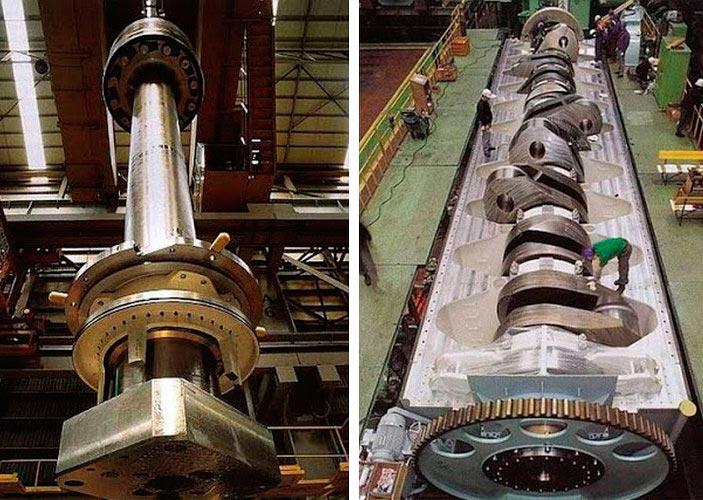 крупнейший в мире двигатель мощностью 109 000 лошадиных сил Wärtsilä 300 RT-flex96C