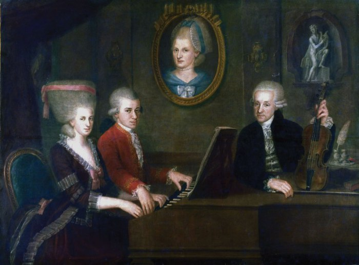 семья Моцарта family of mozart