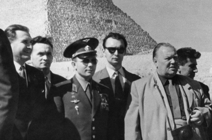 Президент Египта Абдель Насер и Юрий Гагарин высший орден страны «Ожерелье Нила». День Космонавтики