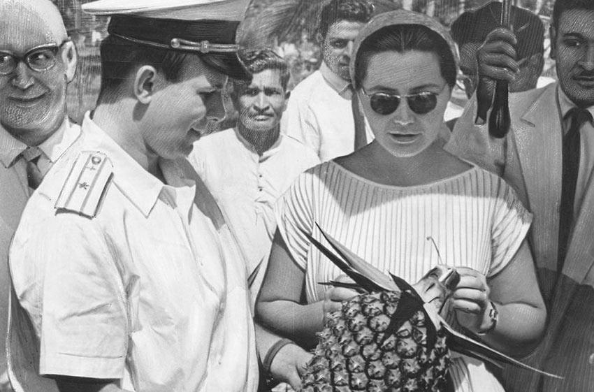 Юрий Гагарин в Мексике. 1963 год