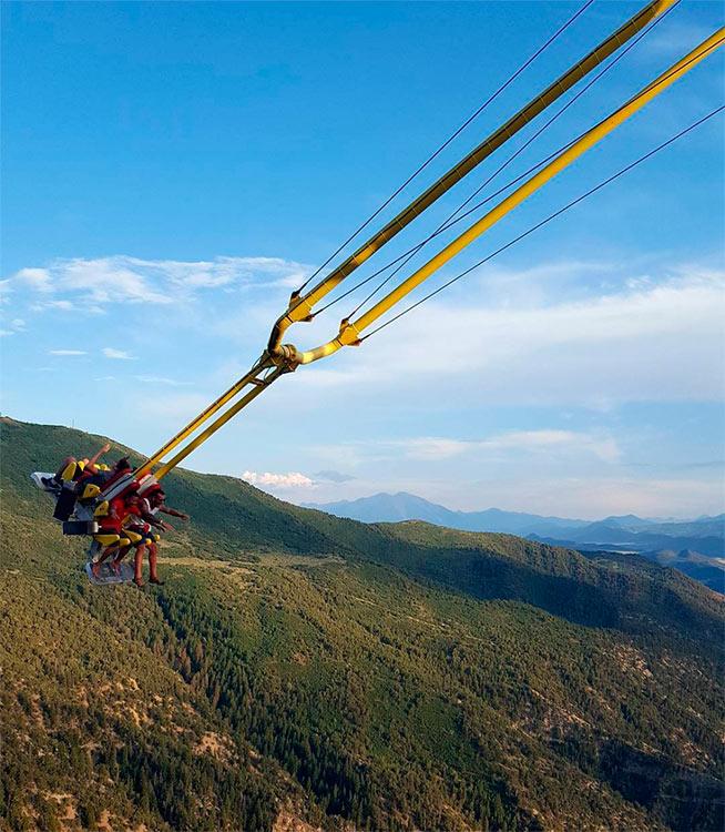 Сумасшедшие аттракционы, от которых сносит крышу Giant Canyon Swing, США