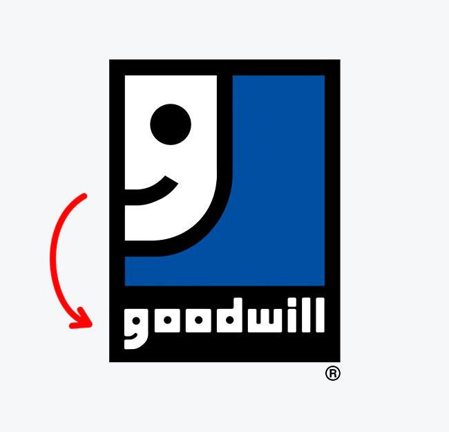 Символы, спрятанные в известных логотипах Goodwill