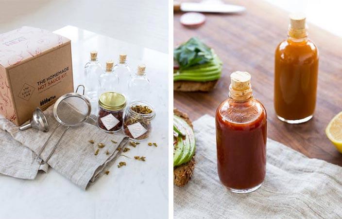 оригинальные подарки для любителей готовить homemade hot sauce kit