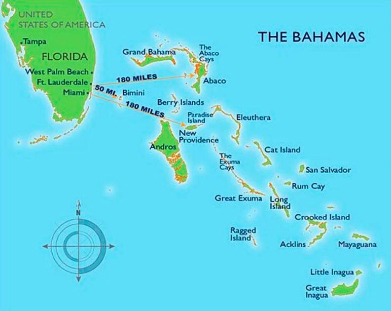 15 интересных фактов площадь Багамских островов гольф