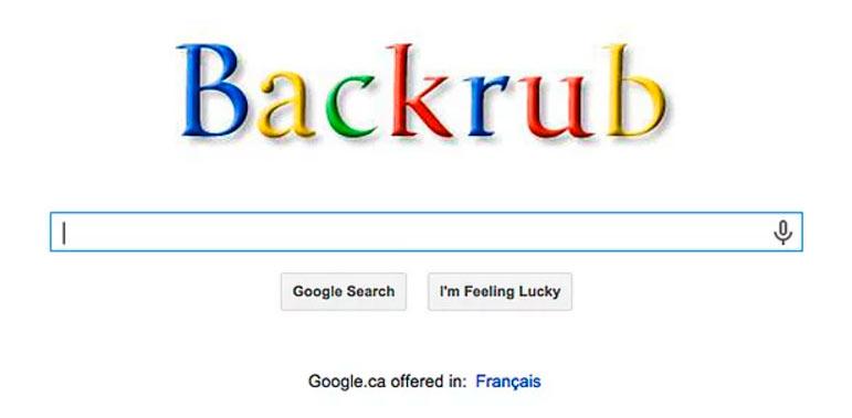 """15 интересных фактов google """"backrub"""" """"массаж спины"""""""