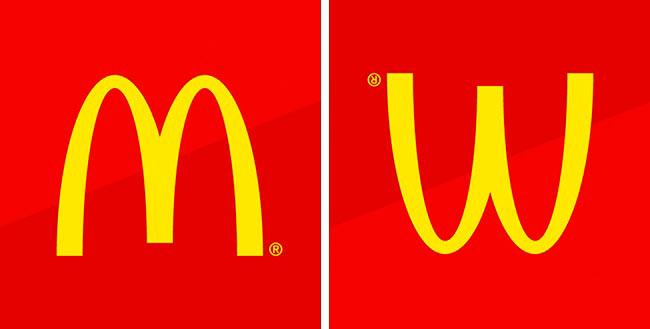 Символы, спрятанные в известных логотипах McDonald's