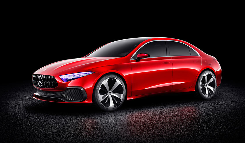 Concept A Sedan новый Mercedes-Benz А-класс Sensual Purity