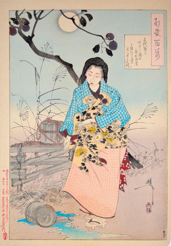 «Сто видов Луны» – гравюры укиё-э Цукиока Ёситоси Поэма разбитого ведра