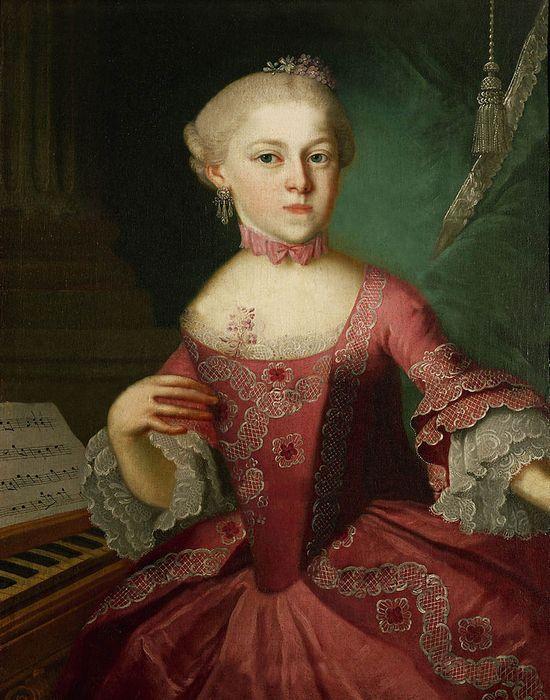 Анна Мария Вальбурга Моцарт Anna Maria Walburga Mozart nannerl