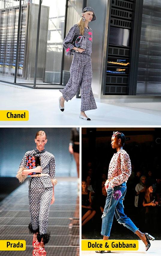 Chanel Louis Vuitton Céline Dolce&Gabanna Prada Christian Dior ткани мода pants