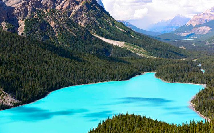 13 мест с самой красивой водой на планете Озеро Пейто Канада peyto lake