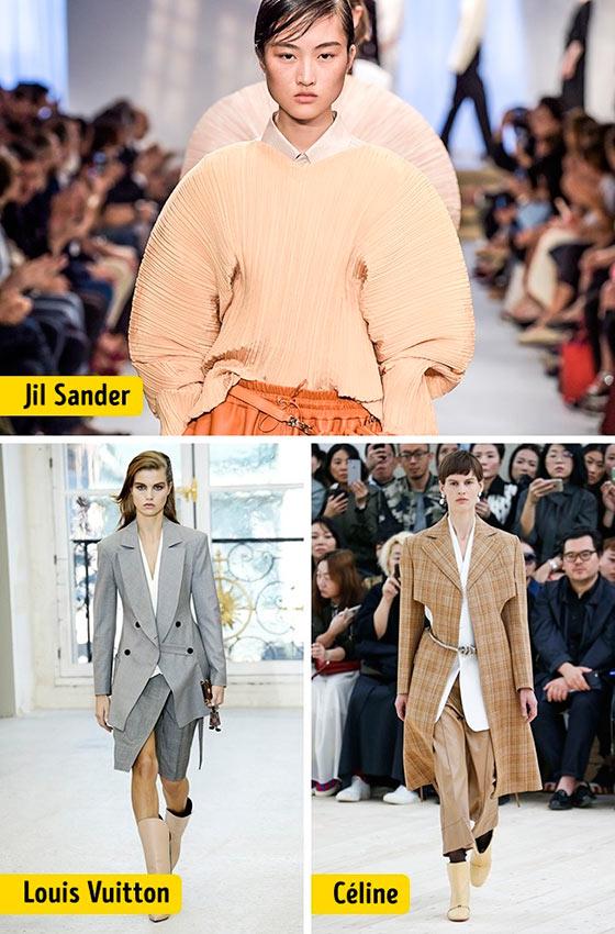 Chanel Louis Vuitton Céline Dolce&Gabanna Prada Christian Dior ткани мода shoulder line