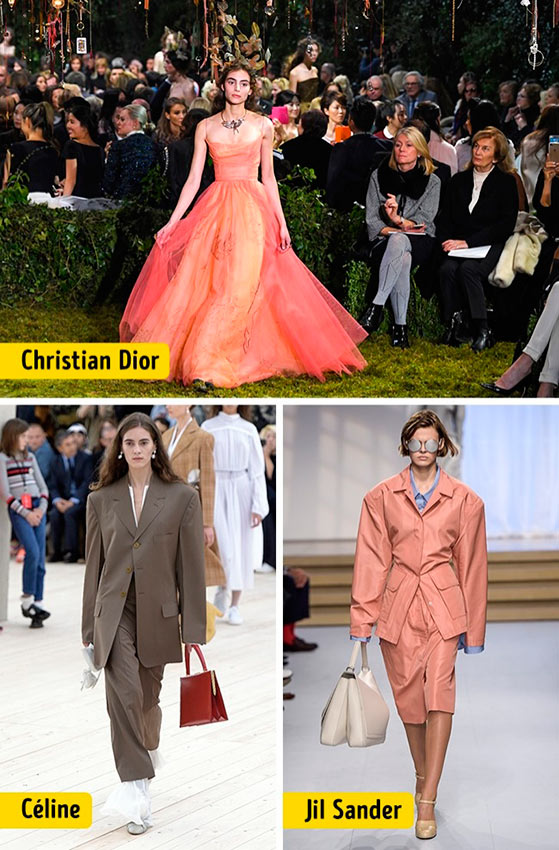 Chanel Louis Vuitton Céline Dolce&Gabanna Prada Christian Dior ткани мода silhouettes
