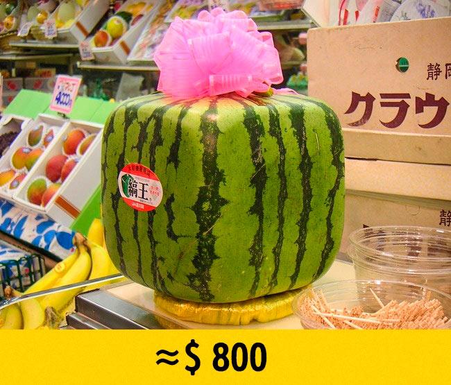 10 редких фруктов, которые стоят возмутительно дорого Квадратный арбуз square watermelon