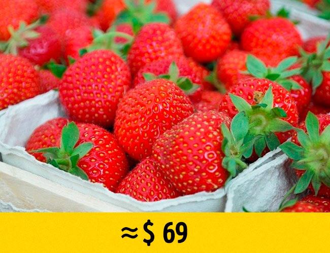 10 редких фруктов, которые стоят возмутительно дорого Клубника из фруктового бутика strawberry