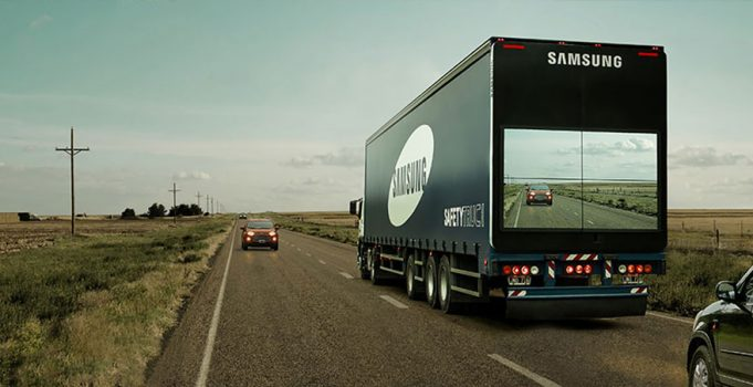 Samsung безопасный способ обгона грузовиков