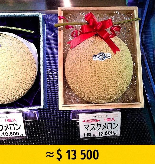 10 редких фруктов, которые стоят возмутительно дорого Дыня Yubari melon yubari