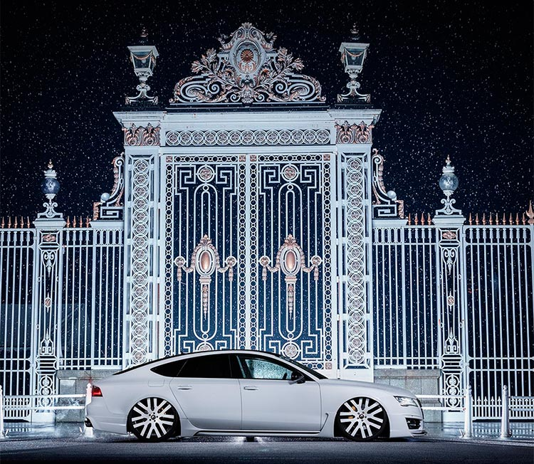 Audi A7 из Японии распластался по земле на колесах от Forgiato