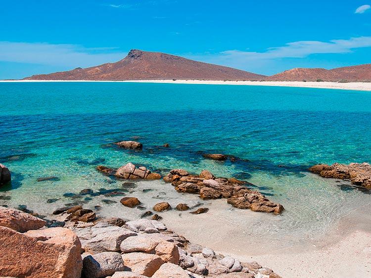 Крутые пляжи Мексики Остров Эспириту Санто, Ла-Пас