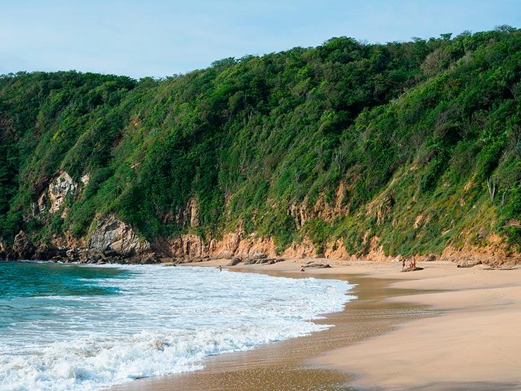 Крутые пляжи Мексики Playa Mazunte, Оахака.