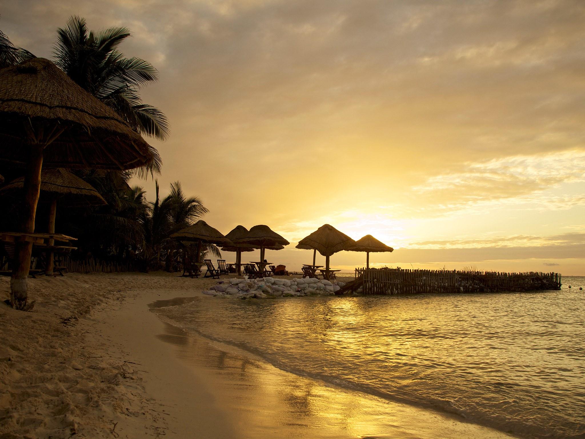 Крутые пляжи Мексики Playa Norte, Исла-Мухерес, полуостров Юкатан