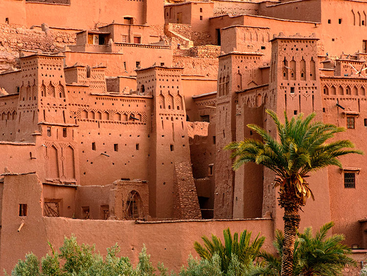 прекрасноепрекрасное Марокко Стены Айт-Бен-Хадду beautiful Morocco