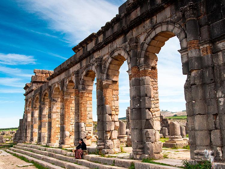 прекрасное Марокко Развалины города Волюбис вблизи Мекнеса beautiful Morocco