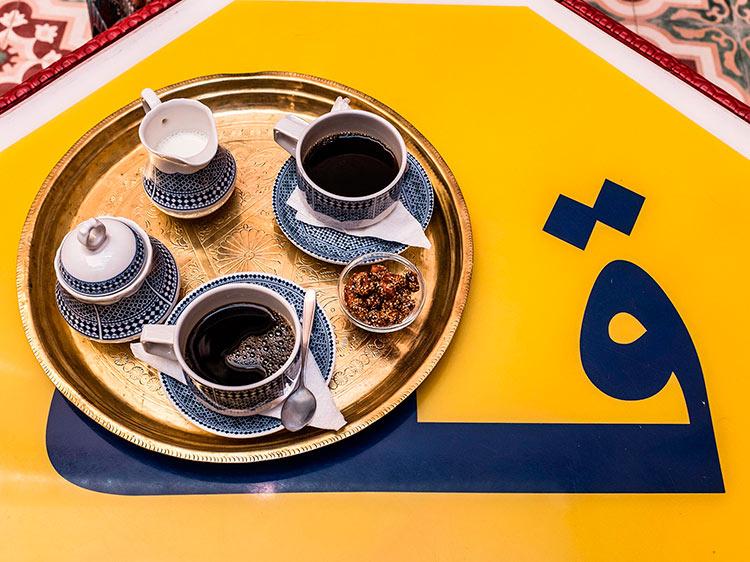 прекрасное Марокко Марокканский кофе beautiful Morocco