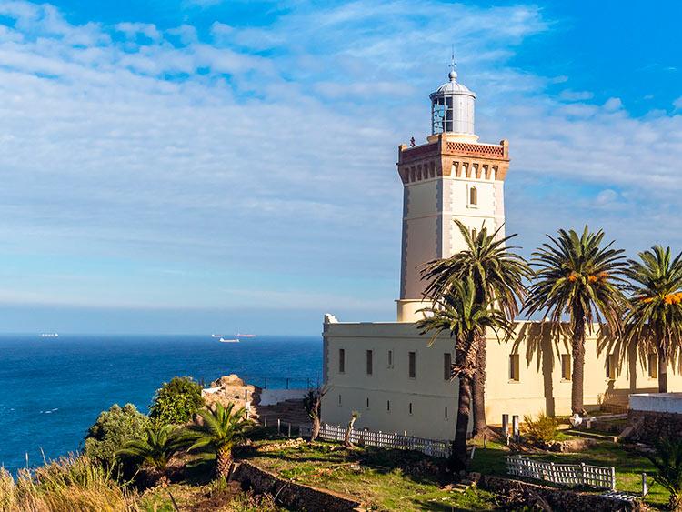 прекрасное Марокко Танжирский маяк Спартель beautiful Morocco