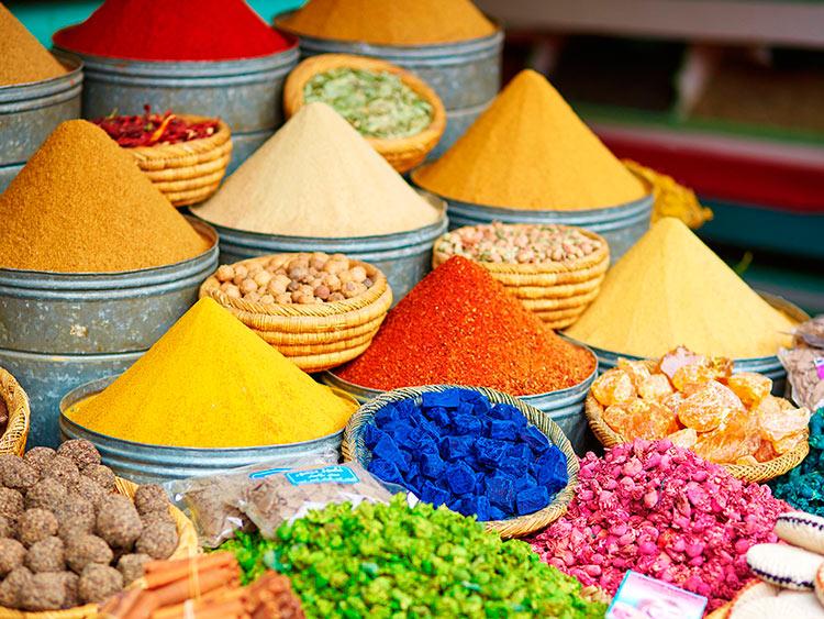прекрасное Марокко специи на рынке в Марракеше beautiful Morocco