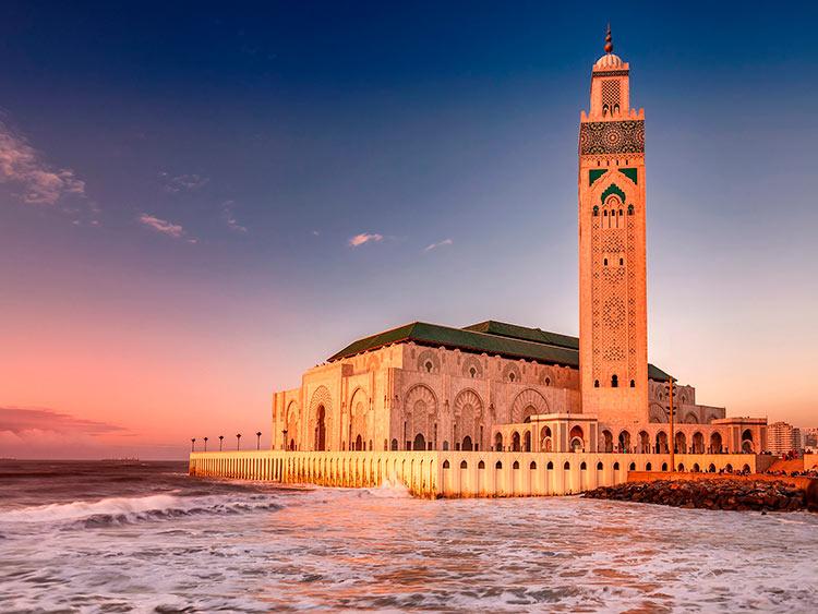 прекрасное Марокко Мечеть Хасана II в Касабланке beautiful Morocco