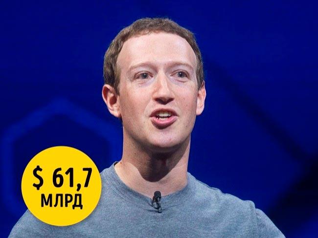 10 миллиардеров, у которых есть один общий недостаток Марк Цукерберг